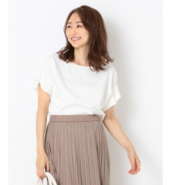 【エニィスィス/any SiS】 【UVケア】レーヨンナイロンポンチ Tシャツ
