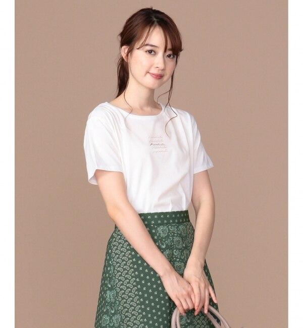 【エニィスィス/any SiS】 【UVケア】ロゴプリント Tシャツ