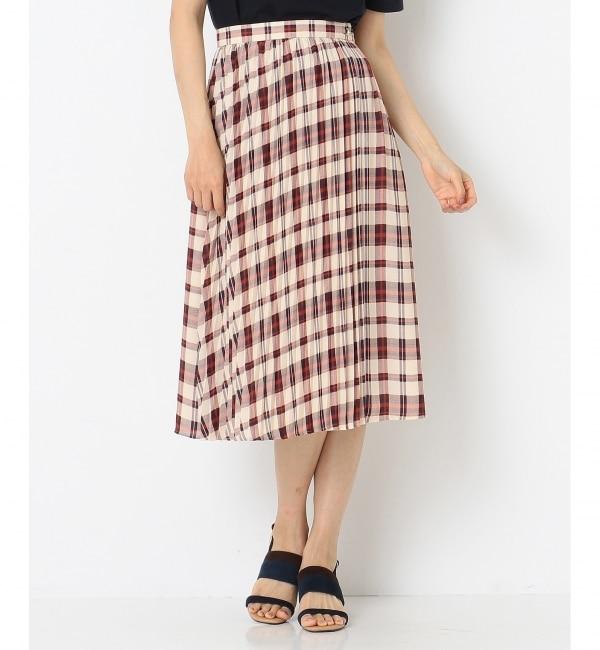 【エニィスィス/any SiS】 【洗える】オータムカラーチェックシフォン スカート