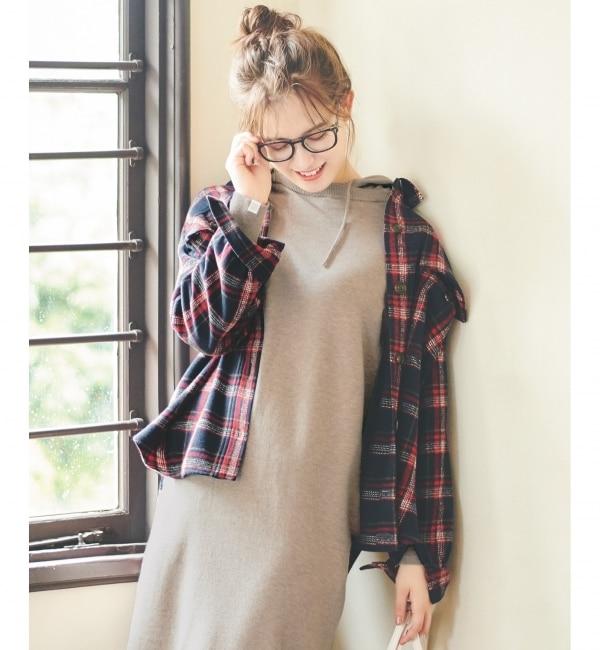 【エニィスィス/any SiS】 【L'aube】チェックシャツ ジャケット