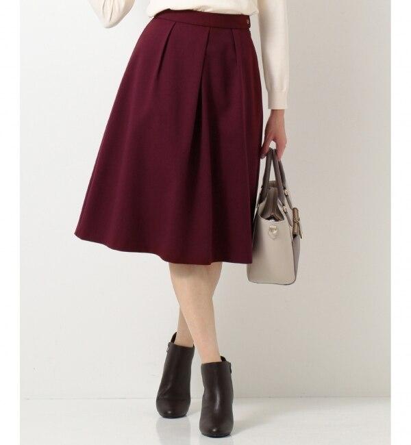 【エニィスィス/any SiS】 【洗える】ノーブルオータムフレア スカート
