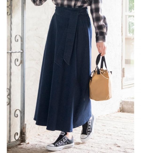 【エニィスィス/any SiS】 【L'aube】フレアデニム スカート