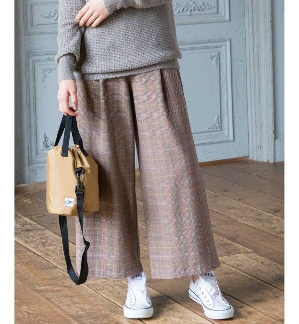 【エニィスィス/any SiS】 【L'aube】グレンチェック パンツ