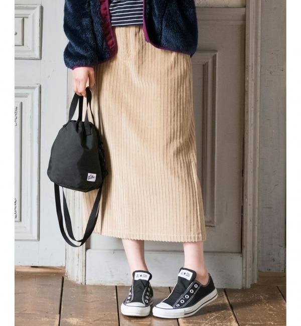 【エニィスィス/any SiS】 【L'aube】コーデュロイタイト スカート