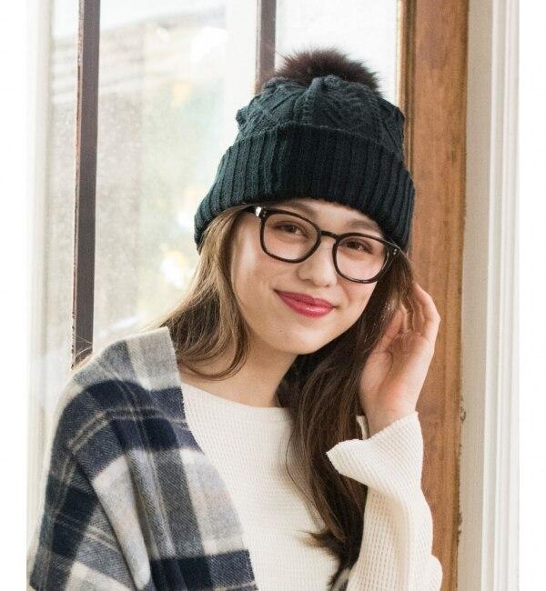 【エニィスィス/any SiS】 【4WAY】フォックスファーリバーシブル ニット帽