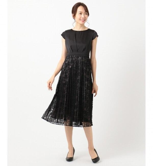 【エニィスィス/any SiS】 【洗える】フルールレースプリーツ ドレス