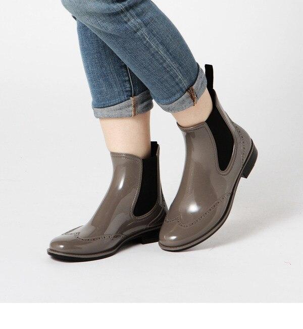 【ローズバッド/ROSEBUD】 【店頭人気】OXFORD PVC WNIG TIP SIDE GORE SHORT BOOTS [送料無料]