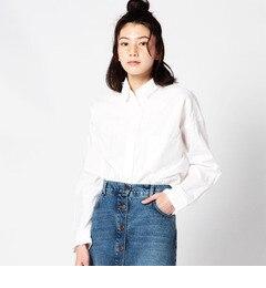 【ローズバッド/ROSEBUD】 【カタログ掲載】胸ポケット付きコットンシャツ [送料無料]