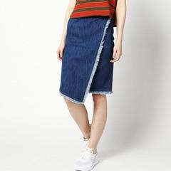 【ローズバッド/ROSEBUD】【店頭人気】デニムラップスカートS-LSK-16112[送料無料]