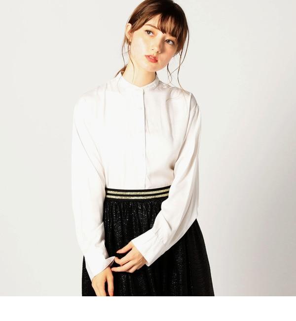 【ローズバッド/ROSEBUD】 サイドジップビッグブラウス [送料無料]