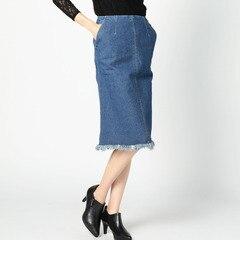 【ローズバッド/ROSEBUD】デニムフリンジタイトスカートS-LSK-16202[送料無料]