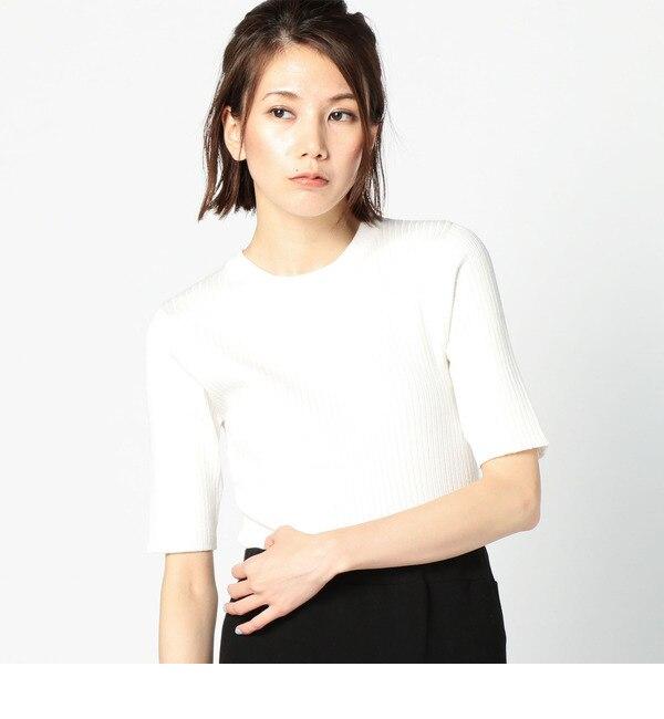 【ローズバッド/ROSEBUD】 【店頭人気】リブ編みニットソー LCTT-16215 [送料無料]