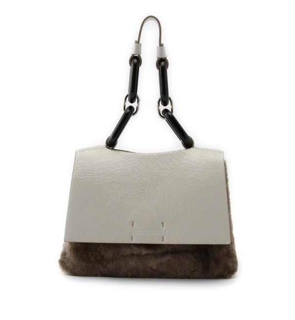 【ローズバッド/ROSEBUD】 (LIA NUMA)牛革×ファー使いハンドバッグ [送料無料]