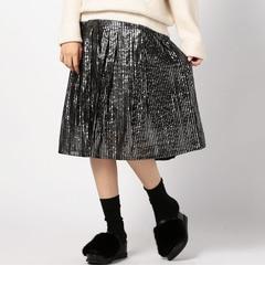 【ローズバッド/ROSEBUD】(HLAADAFORROSEBUD)ラメプリーツスカート[送料無料]