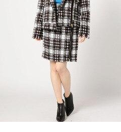 【ローズバッド/ROSEBUD】 チェック柄サイドジップスカート [送料無料]