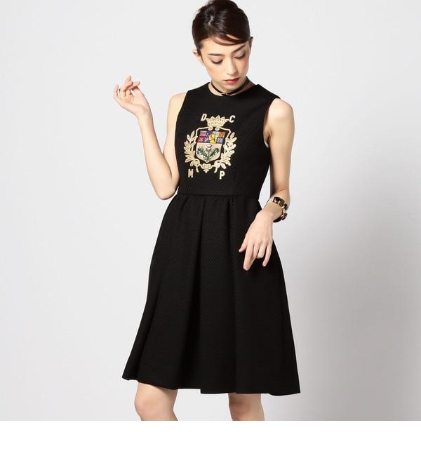 【ローズバッド/ROSEBUD】 DRESS CAMP エンブレム刺繍ワンピース [送料無料]