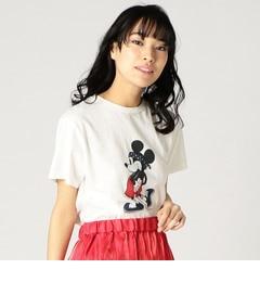 【ローズバッド/ROSEBUD】 (TONY)ミッキーマウスプリントTシャツ [送料無料]