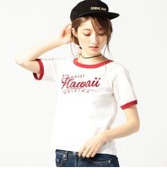 【ローズバッド/ROSEBUD】 ロゴ入りリンガーTシャツ [送料無料]