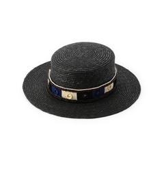 【ローズバッド/ROSEBUD】(FERRUCCIOVECCHI)ミラー刺しゅうリボンカンカン帽[送料無料]