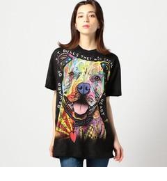 【ローズバッド/ROSEBUD】 (THE MOUNTAIN)ドッグプリントTシャツ [送料無料]