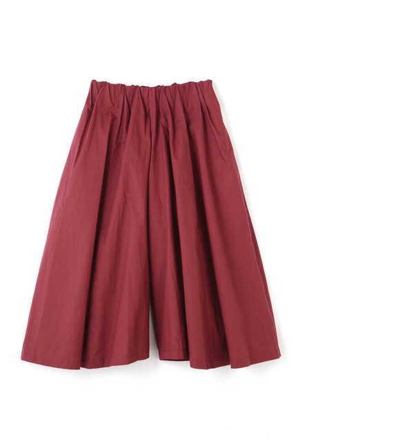 【ローズバッド/ROSEBUD】 ギャザーミモレスカート風パンツ