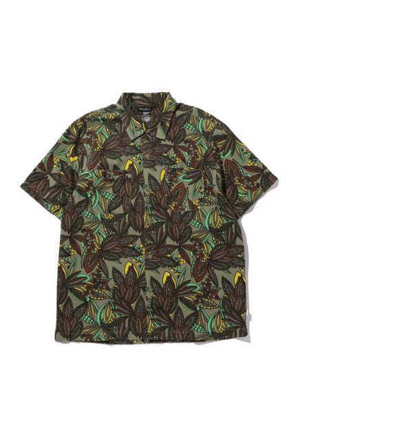 【ローズバッド/ROSEBUD】 [Mens] リーフ柄プリントシャツ [送料無料]