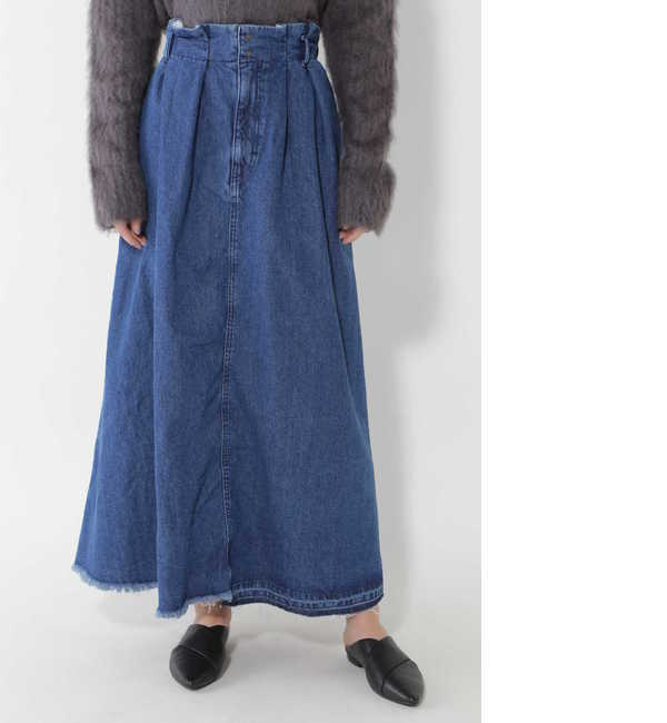 【ローズバッド/ROSEBUD】 【店頭人気】フレアデニムロングスカート