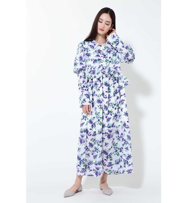 【ローズバッド/ROSEBUD】 ヴァイオレットミディ丈ドレス