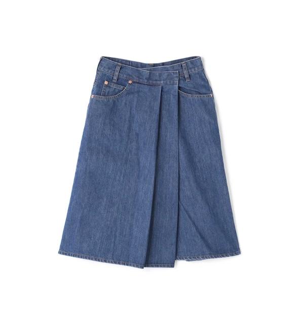 【ローズバッド/ROSEBUD】 デニムラップスカート