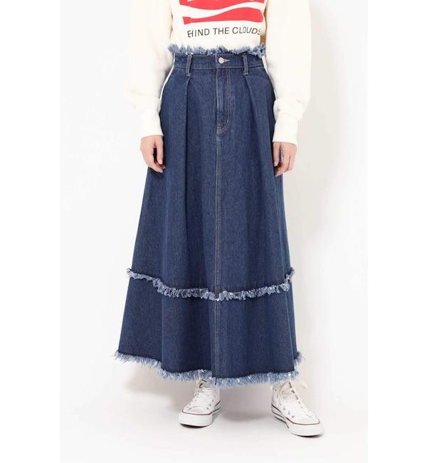 【ローズバッド/ROSEBUD】 フレアデニムスカート