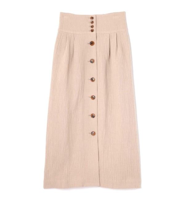【ローズバッド/ROSEBUD】 フロントボタンスカート