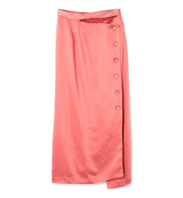 【ローズバッド/ROSEBUD】 SATIN NARROW SKIRT