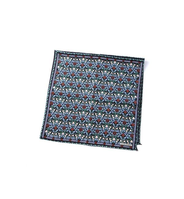 【ローズバッド/ROSEBUD】 ボタニカルプリント柄バンダナスカーフ