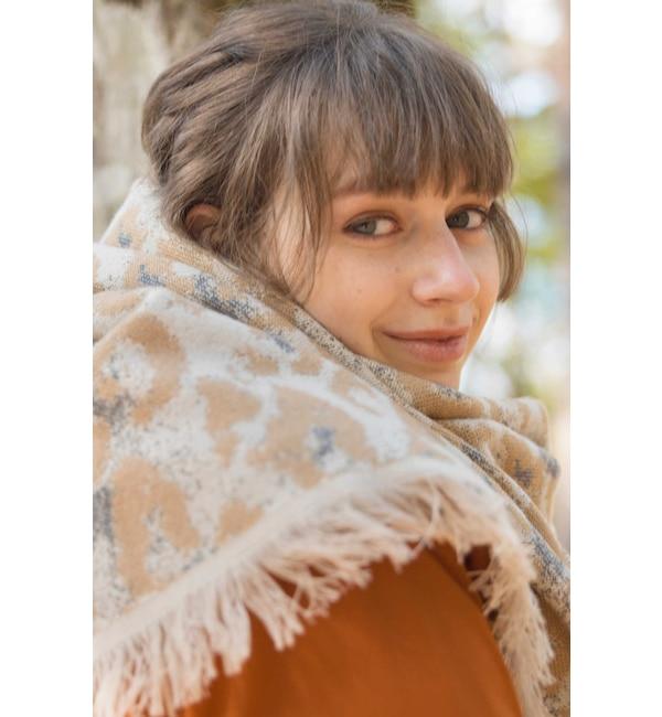 【ローズバッド/ROSEBUD】 アニマルプリントストール