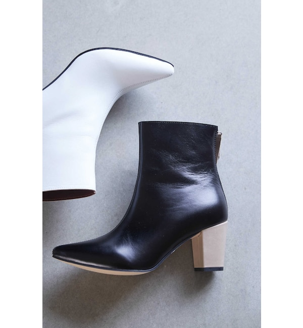【ローズバッド/ROSEBUD】 Pointed Bi Color Boots