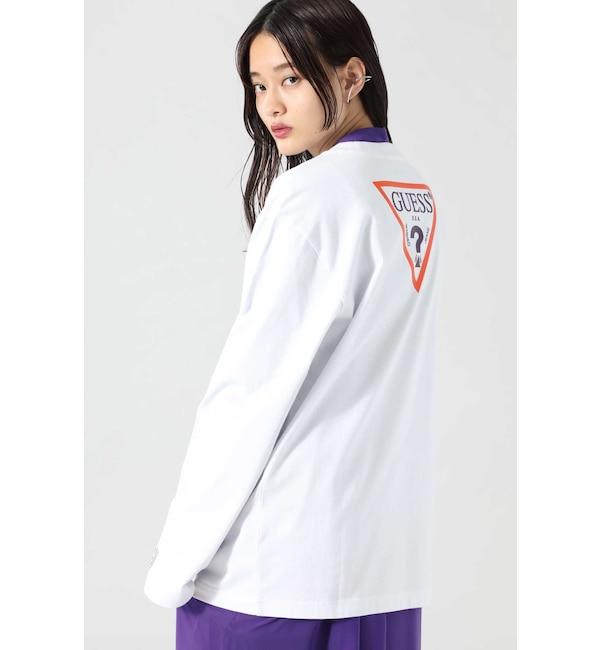 【ローズバッド/ROSEBUD】 <ROSE BUD別注>GUESSロングスリーブTシャツ