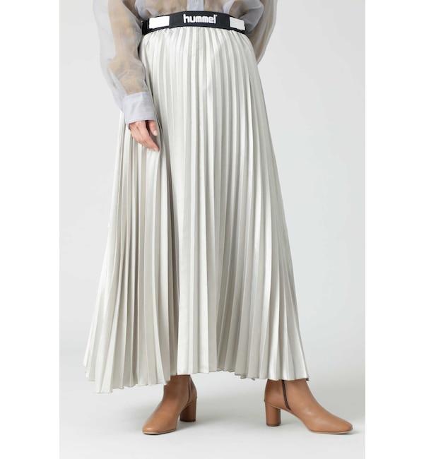 【ローズバッド/ROSEBUD】 <hummel×CREOLME>プリーツスカート
