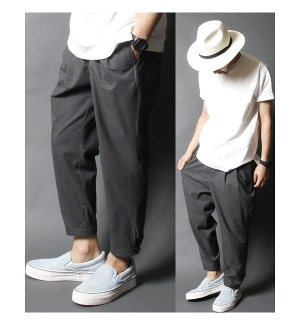 メンズファッションなら AMERICAN RAG CIE 2タックT/Rワイドパンツ