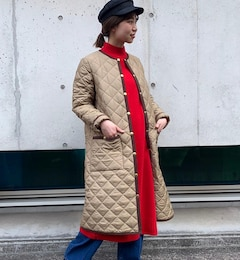 【Traditional Weatherwear】<fredy別注>ARKLYLONGキルティング