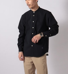 EVALET QUICK DRY BAND COLLAR SHIRT バンドカラーシャツ