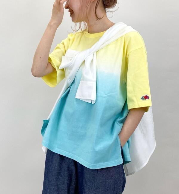 【FRUIT OF THE LOOM/フルーツオブザルーム】段染めチュニックTシャツ