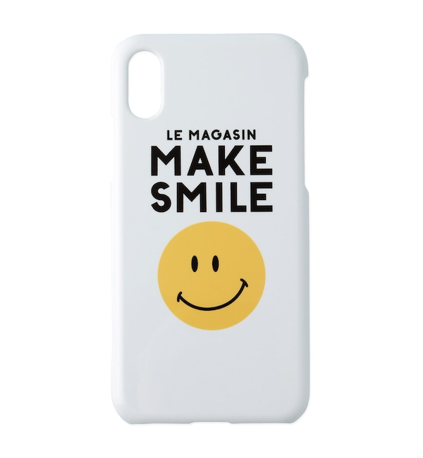 【アダム エ ロペ ル マガザン/Adam et Rope Le Magasin】 MAKESMILE iPhoneXケース