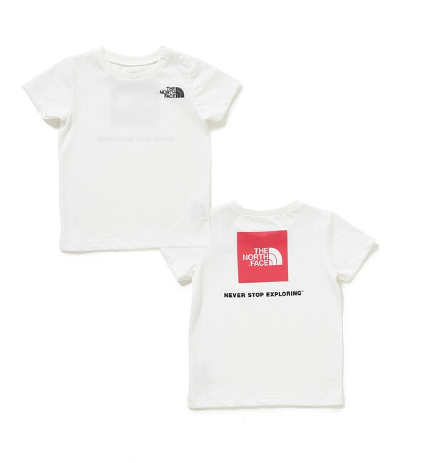 【THE NORTH FACE】スクエアロゴT【アダム エ ロペル マガザン/Adam et Rope Le Magasin キッズ Tシャツ・カットソー ホワイト(10) ルミネ LUMINE】