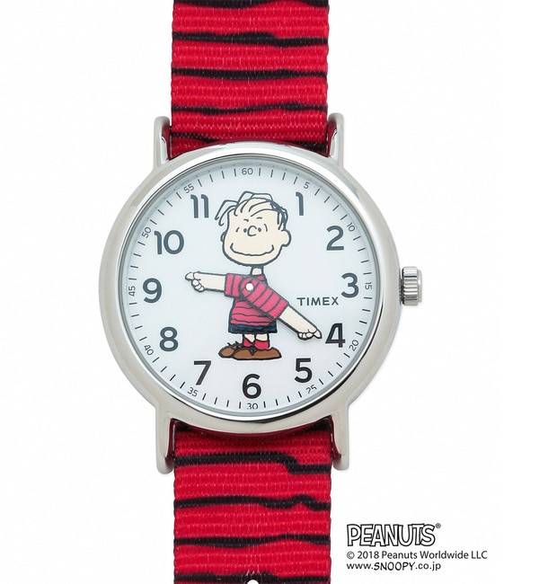 【TIMEX×PEANUTS】WEEKENDER【アダム エ ロペル マガザン/Adam et Rope Le Magasin レディス, メンズ 腕時計 レッド系(61) ルミネ LUMINE】