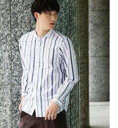 【ジュンレッド/JUNRed】 【トレンドアイテム】バンドカラーシャツ [送料無料]