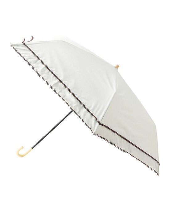 【ロペ/ROPE】 【WEB限定】【晴雨兼用】ドットピコレース折りたたみ日傘 [3000円(税込)以上で送料無料]