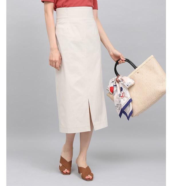 【ロペ マドモアゼル/ROPE madmoiselle】 ストレッチハイウエストタイトスカート