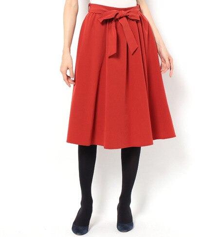 【ビス/ViS】 ミディ丈フレアースカート [3000円(税込)以上で送料無料]