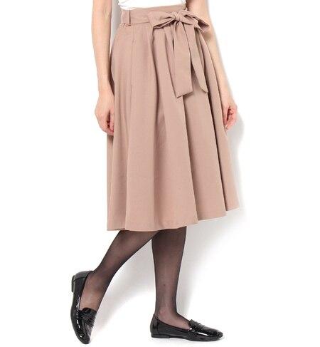 【ビス/ViS】 リボンベルト付きタック入りスカート [送料無料]