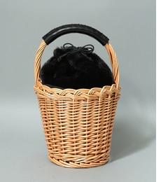 【ビス/ViS】 フェイクファー巾着付きバスケット [送料無料]